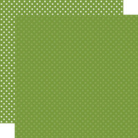 Echo Park - Dots and Stripes Collection - 12 x 12 Double Sided Paper - Leaf Green