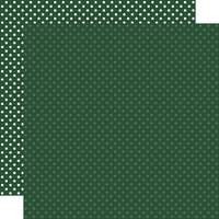 Echo Park - Dots and Stripes Collection - 12 x 12 Double Sided Paper - Evergreen
