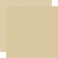 Echo Park - Dots and Stripes Collection - 12 x 12 Double Sided Paper - Tan