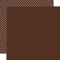 Echo Park - Dots and Stripes Collection - 12 x 12 Double Sided Paper - Brown