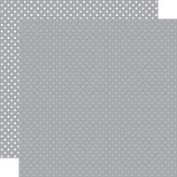 Echo Park - Dots and Stripes Collection - 12 x 12 Double Sided Paper - Grey