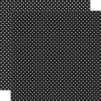 Echo Park - Dots and Stripes Collection - 12 x 12 Double Sided Paper - Black
