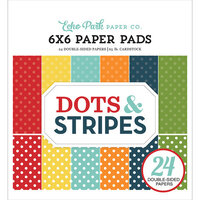 Echo Park - Dots and Stripes Collection - 6 x 6 Paper Pad - Summer