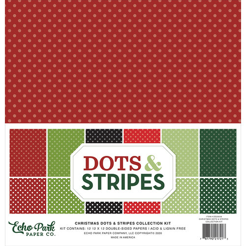 Echo Park - Dots and Stripes Collection - Christmas Two - 12 x 12 Collection Kit