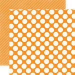 Echo Park - Candy Shoppe Dots and Stripes Collection - 12 x 12 Double Sided Paper - Mango Large Dot