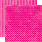 Echo Park - Candy Shoppe Dots and Stripes Collection - 12 x 12 Double Sided Paper - Watermelon Small Dot