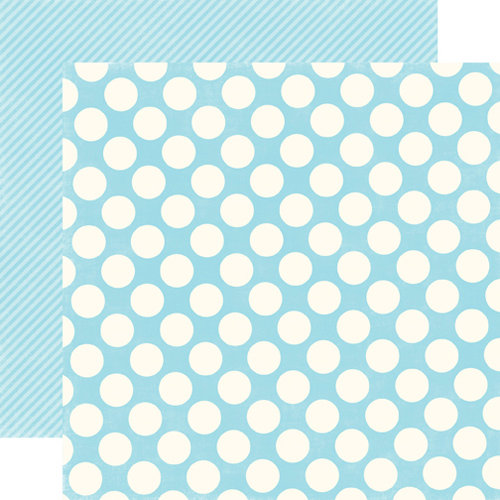 Echo Park - Candy Shoppe Dots and Stripes Collection - 12 x 12 Double Sided Paper - Raspberry Large Dot