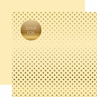 Echo Park - Dots and Stripes Collection - Autumn Gold Foil Dots - 12 x 12 Double Sided Paper with Foil Accents - Cream