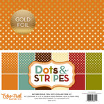 Echo Park - Dots and Stripes Collection - Autumn Gold Foil Dots - 12 x 12 Collection Kit