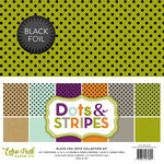 Echo Park - Dots and Stripes Collection - Black Foil Dots - 12 x 12 Collection Kit