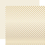Echo Park - Dots and Stripes Collection - Christmas - Gold Foil Dots - 12 x 12 Double Sided Paper - Ivory