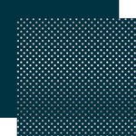 Echo Park - Dots and Stripes Collection - Christmas - Silver Foil Dots - 12 x 12 Double Sided Paper - Navy