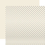 Echo Park - Dots and Stripes Collection - Christmas - Silver Foil Dots - 12 x 12 Double Sided Paper - Ivory