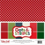 Echo Park - Dots and Stripes Collection - Christmas - Silver Foil Dots - 12 x 12 Collection Kit