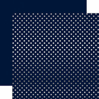Echo Park - Dots and Stripes Collection - Winter -12 x 12 Double Sided Paper with Foil Accents - Navy