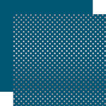 Echo Park - Dots and Stripes Collection - Winter -12 x 12 Double Sided Paper with Foil Accents - Medium Blue