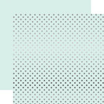 Echo Park - Dots and Stripes Collection - Winter -12 x 12 Double Sided Paper with Foil Accents - Ice Blue