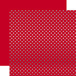 Echo Park - Dots and Stripes Collection - Winter -12 x 12 Double Sided Paper with Foil Accents - Red