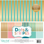 Echo Park - Dots and Stripes Collection - Gold Foil Stripe - 12 x 12 Collection Kit