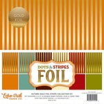 Echo Park - Dots and Stripes Collection - Autumn Gold Foil Stripe - 12 x 12 Collection Kit
