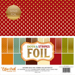 Echo Park - Dots and Stripes Collection - Autumn Gold Foil Combo - 12 x 12 Collection Kit