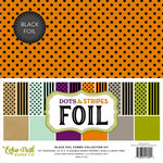 Echo Park - Dots and Stripes Collection - Black Foil Combo - Halloween - 12 x 12 Collection Kit