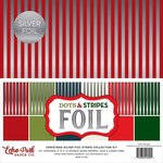 Echo Park - Dots and Stripes Collection - Christmas Silver Foil Stripe - 12 x 12 Collection Kit