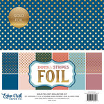 Echo Park - Dots and Stripes Collection - Spring Gold Foil Dots - 12 x 12 Collection Kit