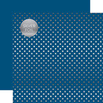 Echo Park - Dots and Stripes Collection - Spring Silver Foil Dots - 12 x 12 Double Sided Paper - Bluejay