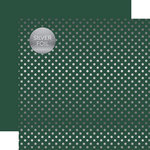 Echo Park - Dots and Stripes Collection - Spring Silver Foil Dots - 12 x 12 Double Sided Paper - Mallard