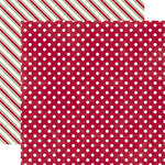 Echo Park - Christmas Dots and Stripes Collection - 12 x 12 Double Sided Paper - Sleigh Ride Medium Dot