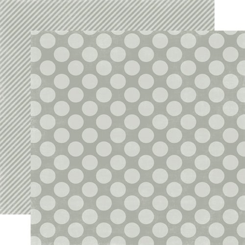 Echo Park - Christmas Dots and Stripes Collection - 12 x 12 Double Sided Paper - Silver Bells Large Dot