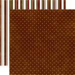 Echo Park - Christmas Dots and Stripes Collection - 12 x 12 Double Sided Paper - Gingerbread Small Dot