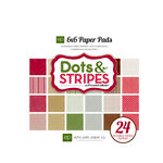 Echo Park - Christmas Dots and Stripes Collection - 6 x 6 Paper Pad