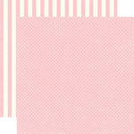 Echo Park - Homefront Dots and Stripes Collection - 12 x 12 Double Sided Paper - Peony Tiny Dot