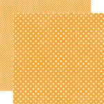 Echo Park - Homefront Dots and Stripes Collection - 12 x 12 Double Sided Paper - Marmalade Small Dot