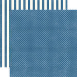 Echo Park - Homefront Dots and Stripes Collection - 12 x 12 Double Sided Paper - Blueberry Tiny Dot