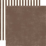 Echo Park - Homefront Dots and Stripes Collection - 12 x 12 Double Sided Paper - Chestnut Tiny Dot