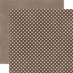 Echo Park - Homefront Dots and Stripes Collection - 12 x 12 Double Sided Paper - Chestnut Small Dot