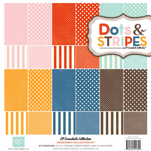 Echo Park - Homefront Dots and Stripes Collection - 12 x 12 Collection Kit