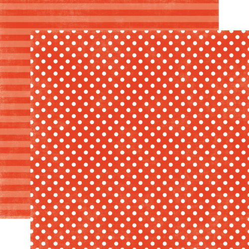 Echo Park - Jewels Dots and Stripes Collection - 12 x 12 Double Sided Paper - Garnet Small Dot