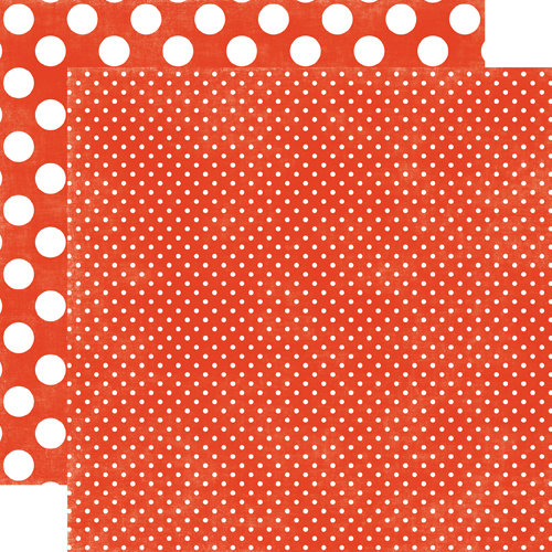 Echo Park - Jewels Dots and Stripes Collection - 12 x 12 Double Sided Paper - Garnet Tiny Dot