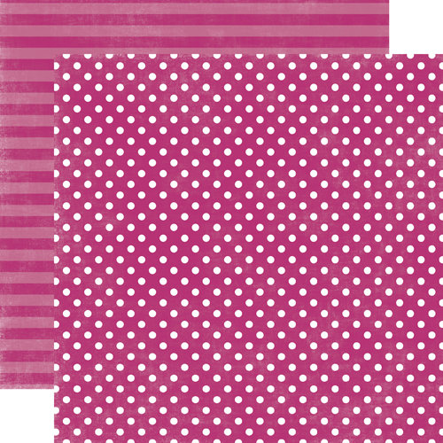 Echo Park - Jewels Dots and Stripes Collection - 12 x 12 Double Sided Paper - Amethyst Small Dot