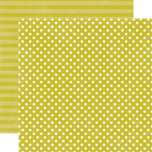 Echo Park - Jewels Dots and Stripes Collection - 12 x 12 Double Sided Paper - Peridot Small Dot