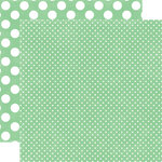 Echo Park - Jewels Dots and Stripes Collection - 12 x 12 Double Sided Paper - Jade Tiny Dot