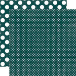 Echo Park - Jewels Dots and Stripes Collection - 12 x 12 Double Sided Paper - Emerald Tiny Dot