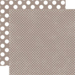 Echo Park - Jewels Dots and Stripes Collection - 12 x 12 Double Sided Paper - Quartz Tiny Dot