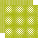 Echo Park - Metropolitan Dots and Stripes Collection - 12 x 12 Double Sided Paper - Leaf Small Dot