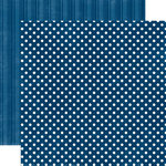 Echo Park - Metropolitan Dots and Stripes Collection - 12 x 12 Double Sided Paper - Navy Small Dot