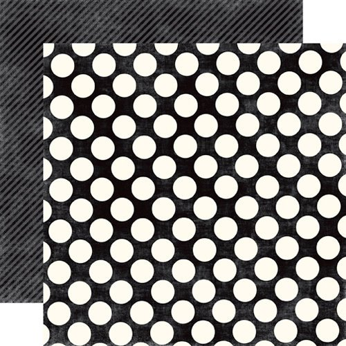 Echo Park - Metropolitan Dots and Stripes Collection - 12 x 12 Double Sided Paper - Tuxedo Large Dot